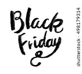 grunge black friday sale... | Shutterstock .eps vector #498179314
