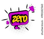 comic text zero sound effects... | Shutterstock .eps vector #498182560