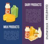 dairy products vertical flyers... | Shutterstock .eps vector #498184450