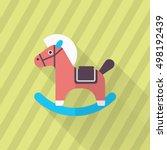 rocking horse  icon   vector...   Shutterstock .eps vector #498192439
