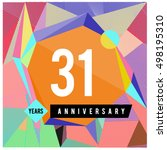 31th years greeting card... | Shutterstock .eps vector #498195310