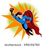 cartoon style delivering boy.... | Shutterstock .eps vector #498196783