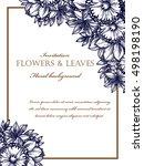 vintage delicate invitation...   Shutterstock .eps vector #498198190