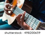 a man playing the classic... | Shutterstock . vector #498200659