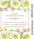 invitation with floral... | Shutterstock .eps vector #498201220