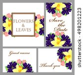 invitation with floral... | Shutterstock .eps vector #498201223