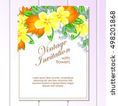 romantic invitation. wedding ... | Shutterstock .eps vector #498201868