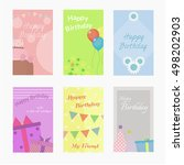 birthday greeting card.card... | Shutterstock .eps vector #498202903