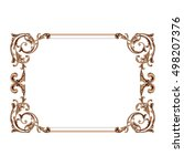 vintage baroque element...   Shutterstock .eps vector #498207376