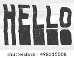 hello glitch art typographic... | Shutterstock .eps vector #498215008