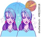 girl symbolizes the zodiac sign ... | Shutterstock .eps vector #498220018