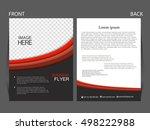 vector business flyer  magazine ... | Shutterstock .eps vector #498222988