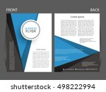 vector business flyer  magazine ... | Shutterstock .eps vector #498222994