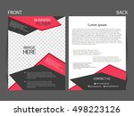 vector business flyer  magazine ... | Shutterstock .eps vector #498223126