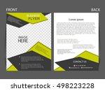 vector business flyer  magazine ... | Shutterstock .eps vector #498223228