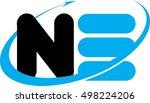 monogram ne logo | Shutterstock .eps vector #498224206