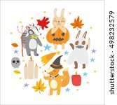vector set. autumn holiday... | Shutterstock .eps vector #498232579