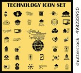 technology innovation icons set.... | Shutterstock .eps vector #498233920