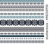 tribal seamless pattern.... | Shutterstock .eps vector #498233950