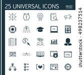 set of 25 universal icons on... | Shutterstock .eps vector #498237514