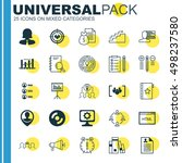 set of 25 universal icons on... | Shutterstock .eps vector #498237580
