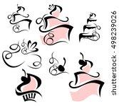 cake logo   Shutterstock .eps vector #498239026