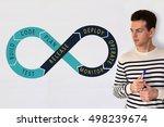 devops process diagram ... | Shutterstock . vector #498239674
