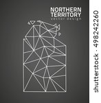 northern territory black vector ... | Shutterstock .eps vector #498242260