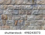 background of stone wall... | Shutterstock . vector #498243073