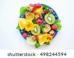 colorful fruit platter with... | Shutterstock . vector #498244594