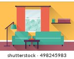 interior living room with... | Shutterstock .eps vector #498245983