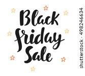 black friday sale poster. hand... | Shutterstock .eps vector #498246634
