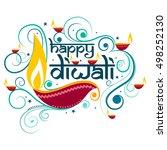 vector design of happy diwali... | Shutterstock .eps vector #498252130