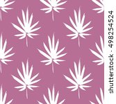 seamless pattern with brush... | Shutterstock .eps vector #498254524