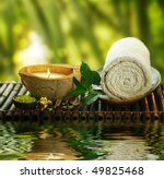 spa setting outdoor   Shutterstock . vector #49825468