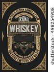 old whiskey label | Shutterstock .eps vector #498254908