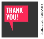 thank you  in speech bubble ... | Shutterstock .eps vector #498256324