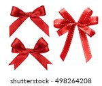 three kind of red ribbon... | Shutterstock . vector #498264208