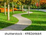 curved sidewalk  path  trail at ... | Shutterstock . vector #498264664