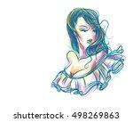 vector  stylish  original hand...   Shutterstock .eps vector #498269863