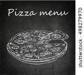 pizza food vector flat... | Shutterstock .eps vector #498279970