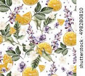 colorful watercolor pattern... | Shutterstock . vector #498280810