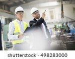 mid adult male supervisors...   Shutterstock . vector #498283000