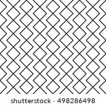 abstract geometry black and... | Shutterstock .eps vector #498286498