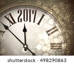 2017 new year sepia background... | Shutterstock .eps vector #498290863
