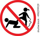 vector sign of the ban bullying | Shutterstock .eps vector #498299929