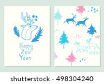 happy new year lettering.... | Shutterstock .eps vector #498304240