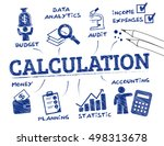 calculation concept. chart with ... | Shutterstock .eps vector #498313678