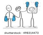 referee holding winner...   Shutterstock .eps vector #498314473