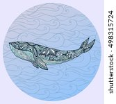 Large Multicolored Whale On A...